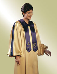 Custom choir robes- no-stole-needed styles