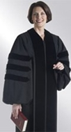 ready-made doctoral gown for women