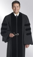 ready-made doctoral gown for men