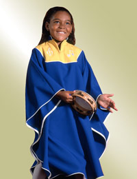 Custom choir robes for children
