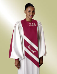 Custom choir gowns- round neck styles