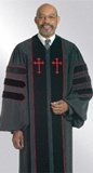 Doctoral clergy robe for men